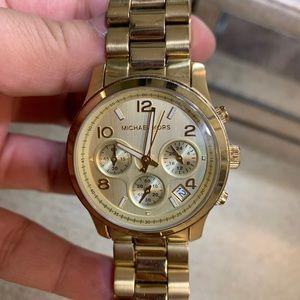 Michael Kors Oversized Gold Tone Watch